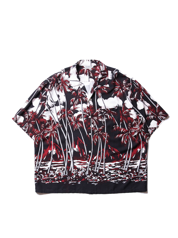 COOTIE Palm Tree Open-Neck S/S Shirt