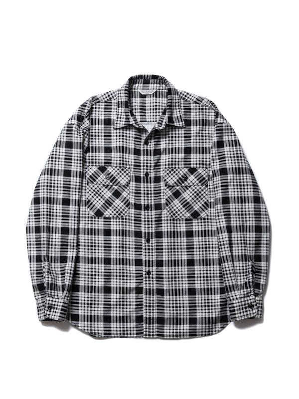 COOTIE Print Nel Check Work Shirt