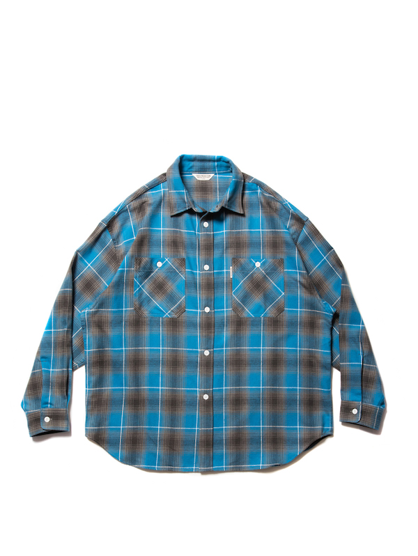 COOTIE Ombre Nel Check Work Shirt