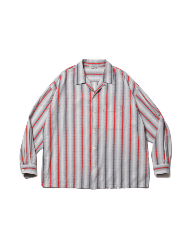 COOTIE Snake Stripe Open – Neck L/S Shirt
