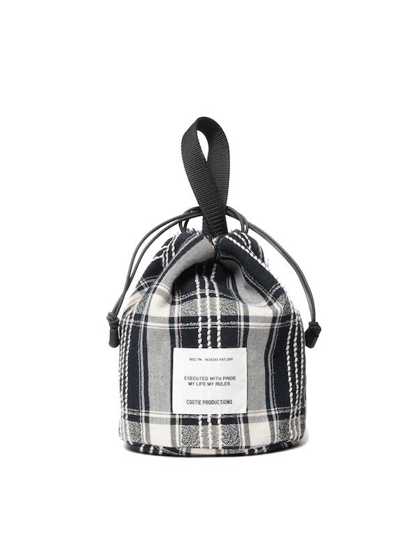 COOTIE Jacquard Check Drawstring Bag