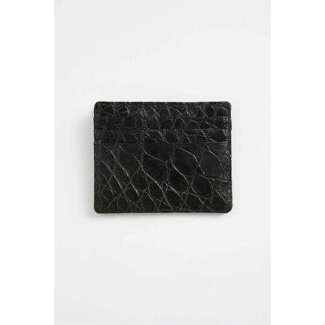The Letters 6 Pocket Card Case. -Crocodile-