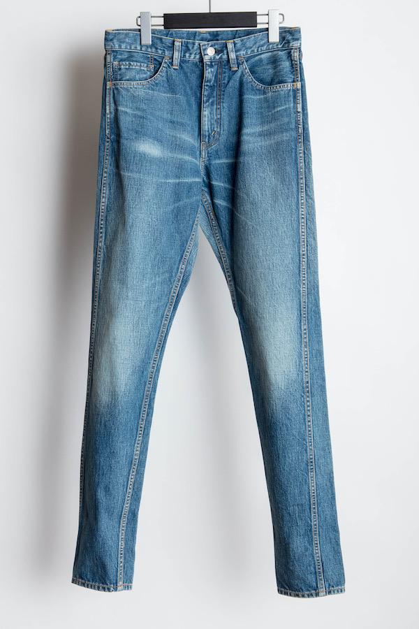 The Letters 5 Pocket Denim Pants. -Used Washed-