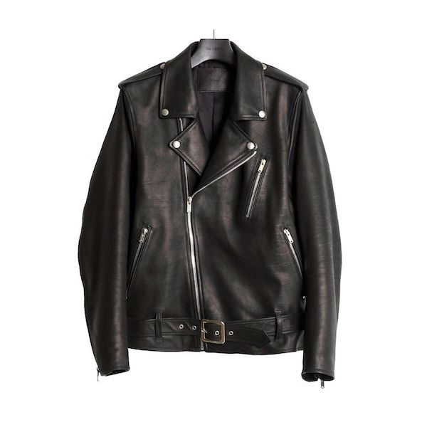 The Letters MOTORCYCLE LEATHER JACKET -CALF SKIN-