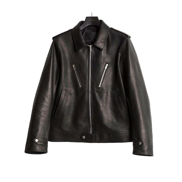 The Letters SINGLE RIDERS LEATHER JACKET -CALF SKIN-