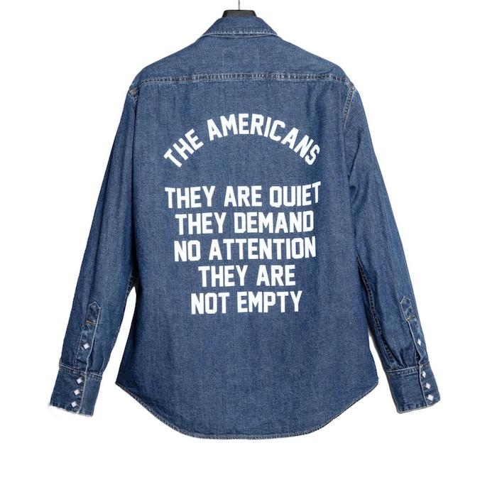 The Letters THE AMERICANS WESTERN SHIRT – USED WASHED DENIM-