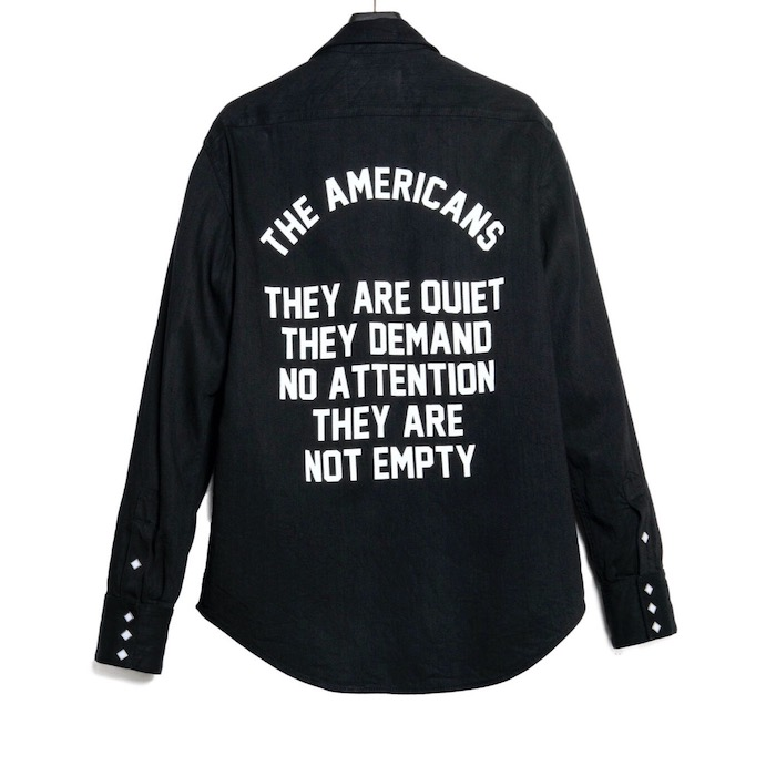 The Letters THE AMERICANS WESTERN SHIRT – WASHED DENIM-
