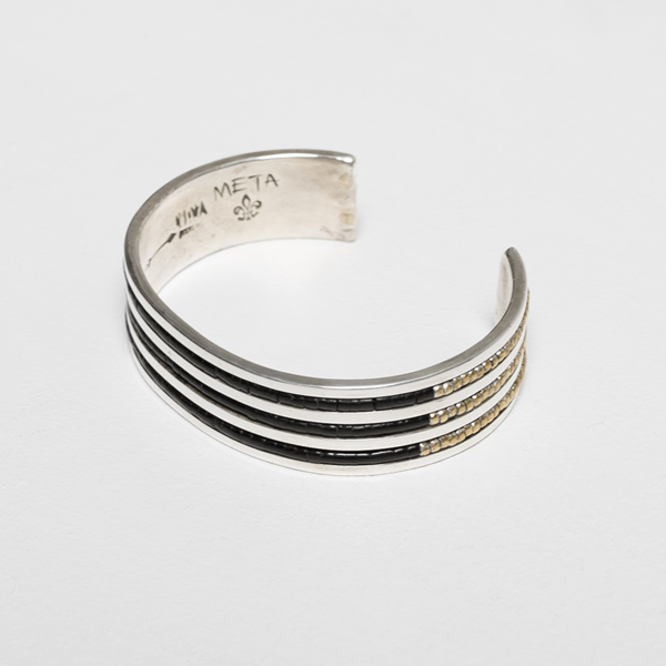 METAPHORE ALOIS WAGNER 3 LINE BANGLE