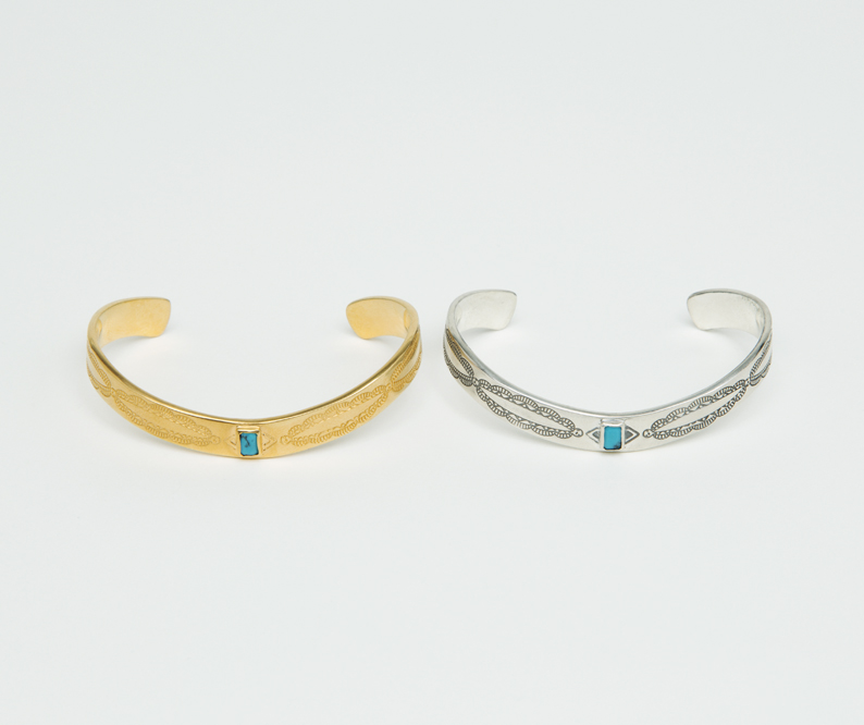 METAPHORE SQUARE STONE BANGLE