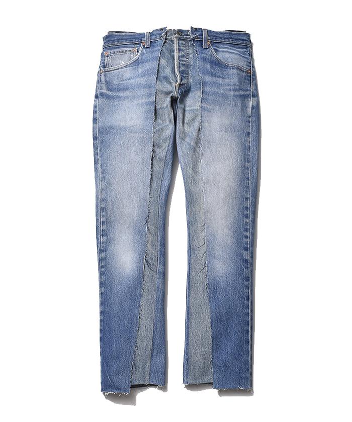 OLD PARK × MINEDENIM Rebuild Wrapped Jeans