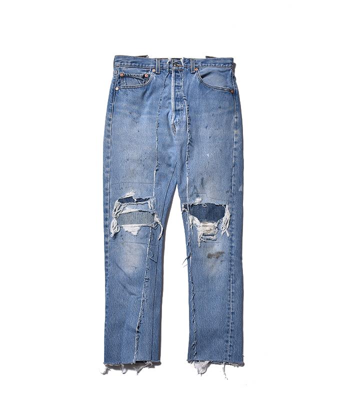 OLD PARK × MINEDENIM Rebuild Flare Jeans