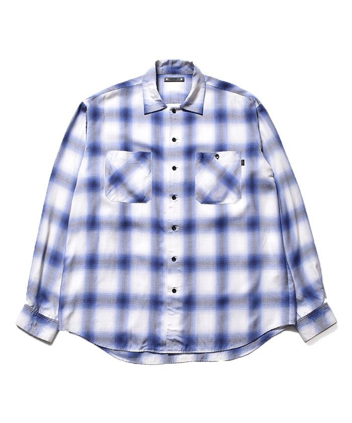 CDL × MINEDENIM CDL × MINEDENIM Rayon Ombre Check Loose Work SH