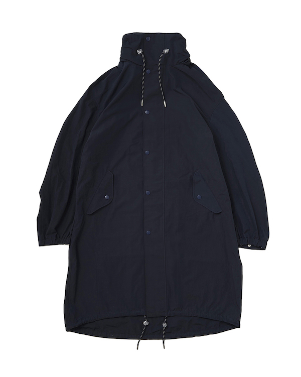 Name. C/NYLON HOODED OVER COAT