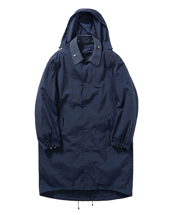 Name. BACK PATCHED NYLON HOODED COAT