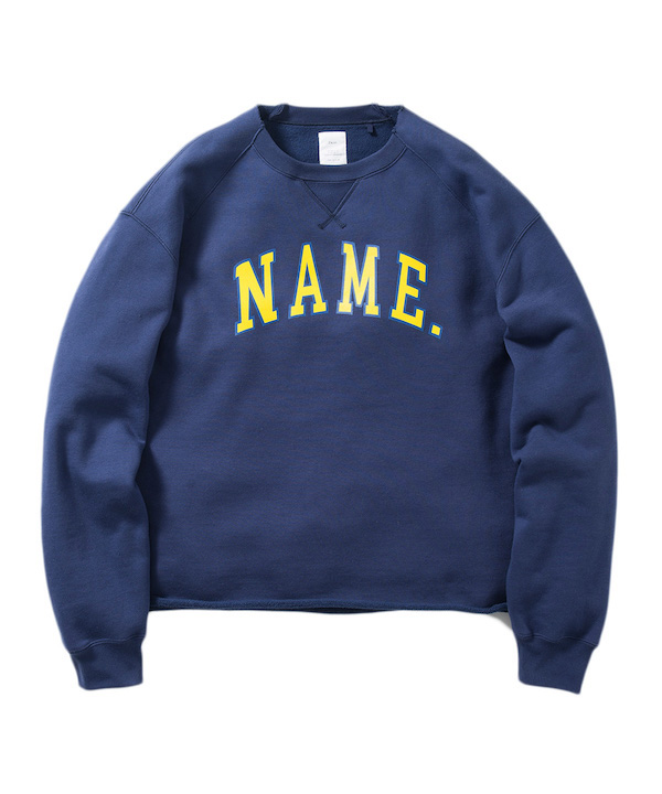 NAME CREW NECK SWEAT SHIRT