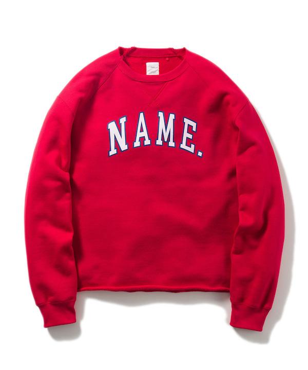 NAME CREW NECK SWEAT SHIRT