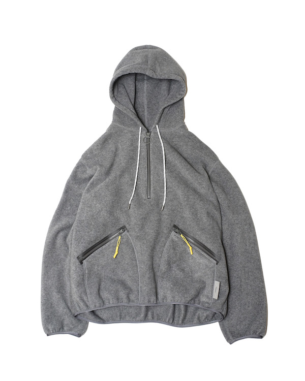 Name. FLEECE HALF ZIP HOODED SWEATER