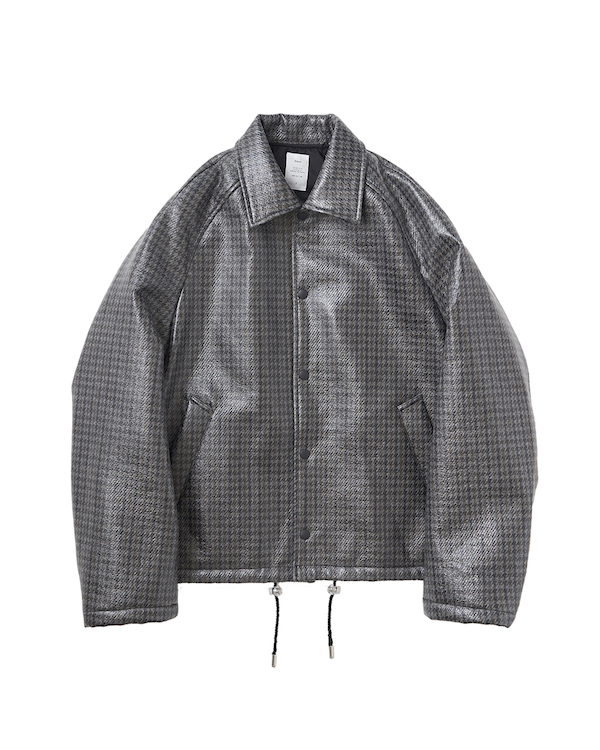 Name. LAMINATED TWEED COACH JACKET