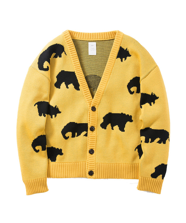 Name. ANIMAL PATTERNED CARDIGAN