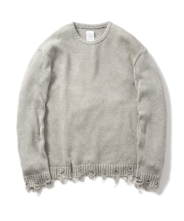 Name. DAMAGED CREW NECK SWEATER