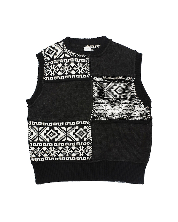 Name. NORDIC PATCHWORK KNIT VEST