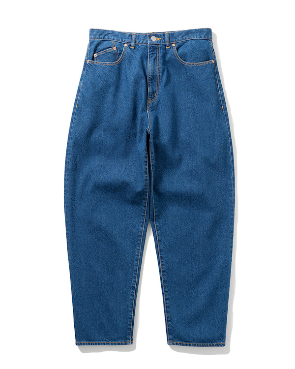 Name. WASHED DENIM TAPERED BAGGY PANTS