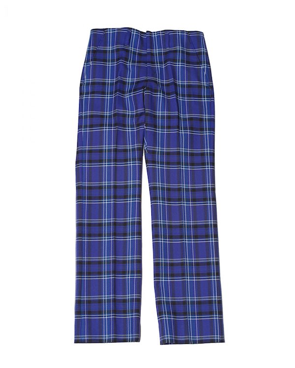 Name. PLAID TROUSERS