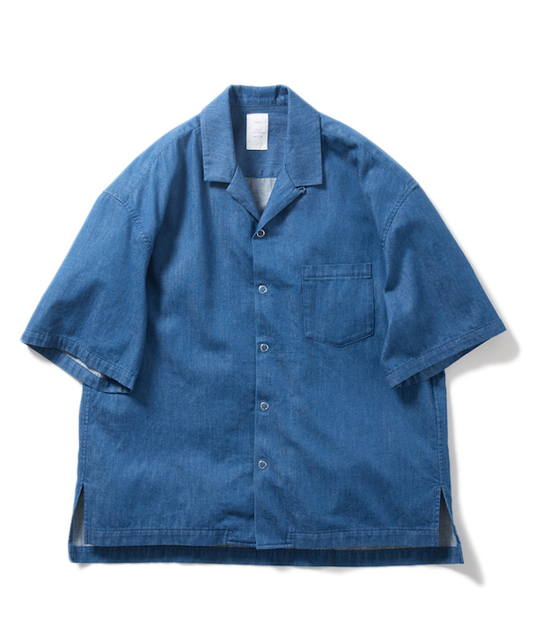 Name. DENIM OPEN COLLAR SHIRT