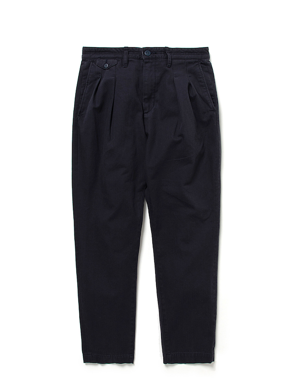 nonnative DWELLER CHINO TROUSERS RELAXED FIT COTTON HERRINGBONE TWILL VW