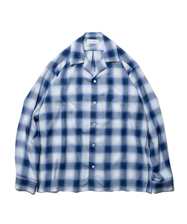 ROTTWEILER Rayon Check OpenCollar LS Shirt