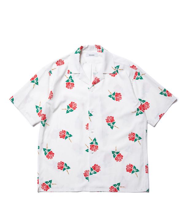 ROTTWEILER Rose Open Collar SS Shirts