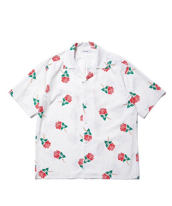 ROTTWEILER ROSE OPEN COLLAR SS SHIRT