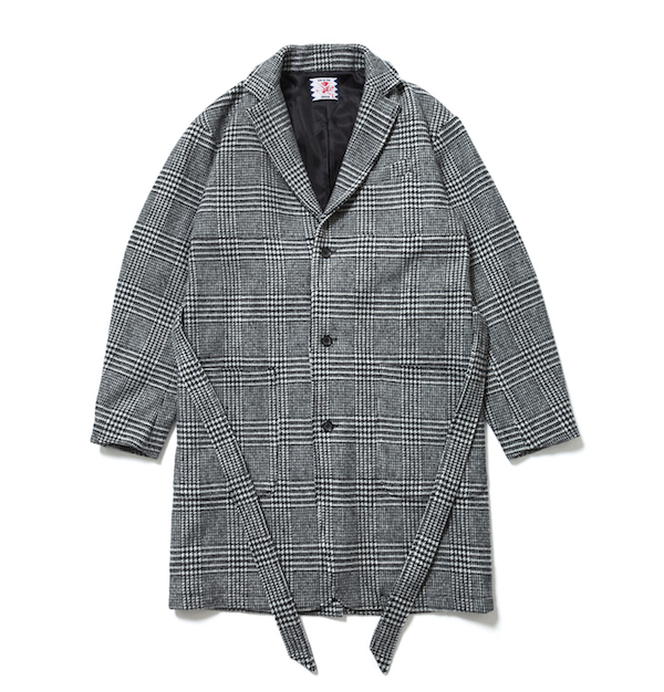 SON OF THE CHEESE check gown coat
