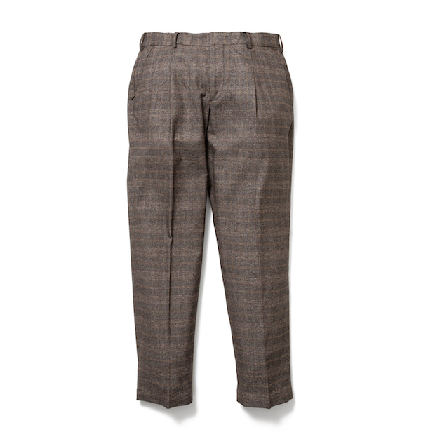 SON OF THE CHEESE Check wide tack pants