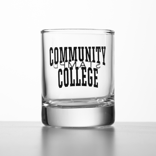 STAMPD Community College Shot Glass