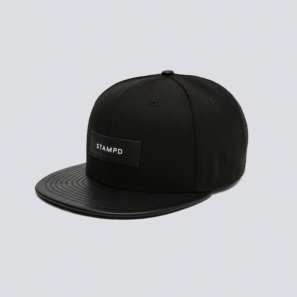 STAMPD New Era 6 Panel Leather Brim