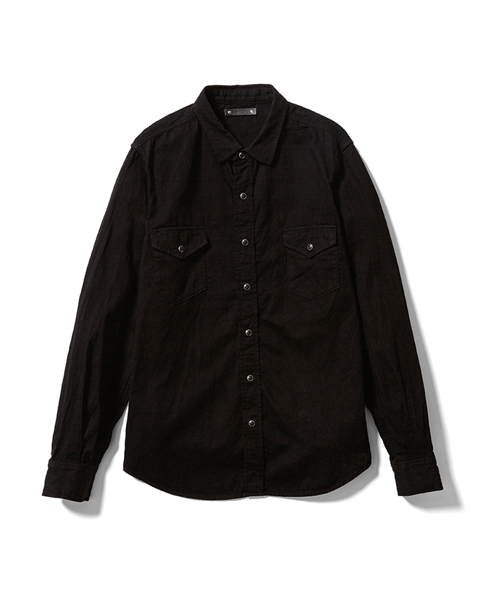 MINEDENIM 御黒染司 京都紋付 F.Black Denim Western SH OWS