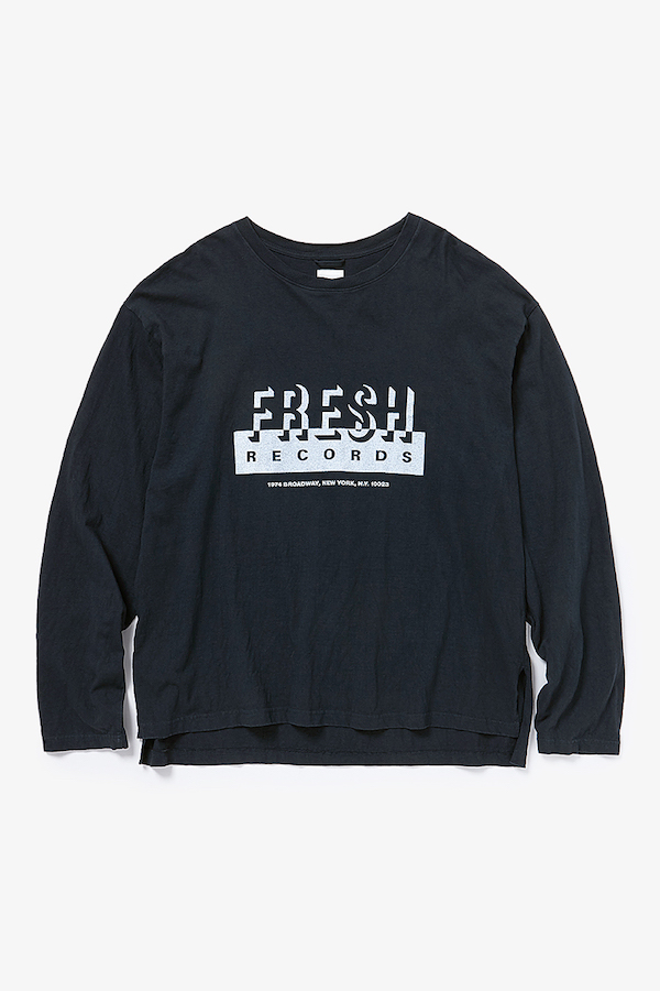 YSTRDY'S TMRRW FRESH RECORDS BAGGY L/S TEE