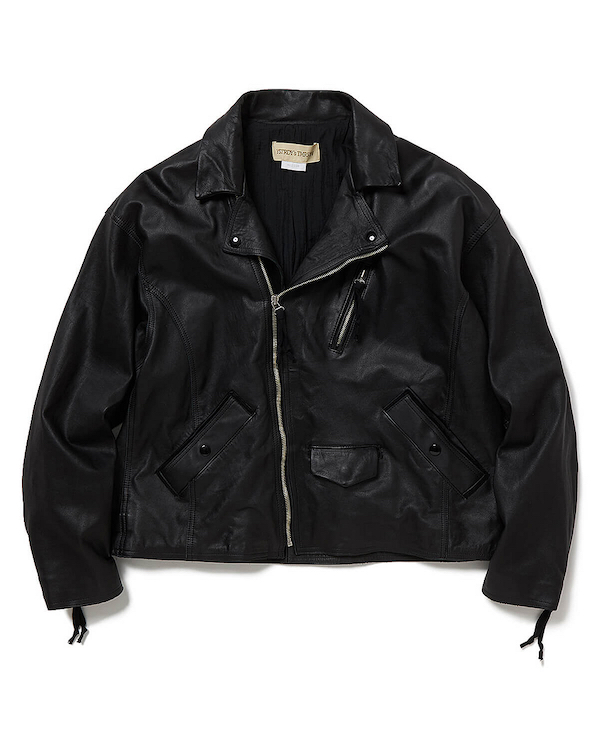 YSTRDY's TMRRW COW LEATHER M.C. JACKET