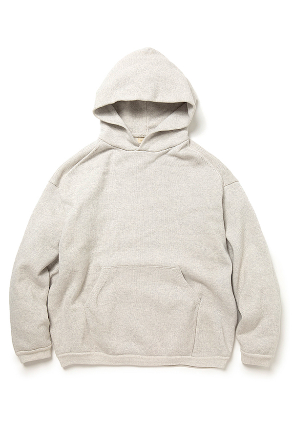 YSTRDY'S TMRRW BAGGY HOODIE COTTON PLATING KNIT
