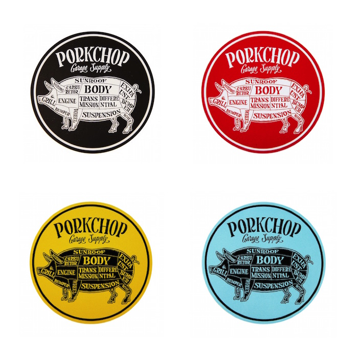 PORKCHOP CIRCLE STICKER