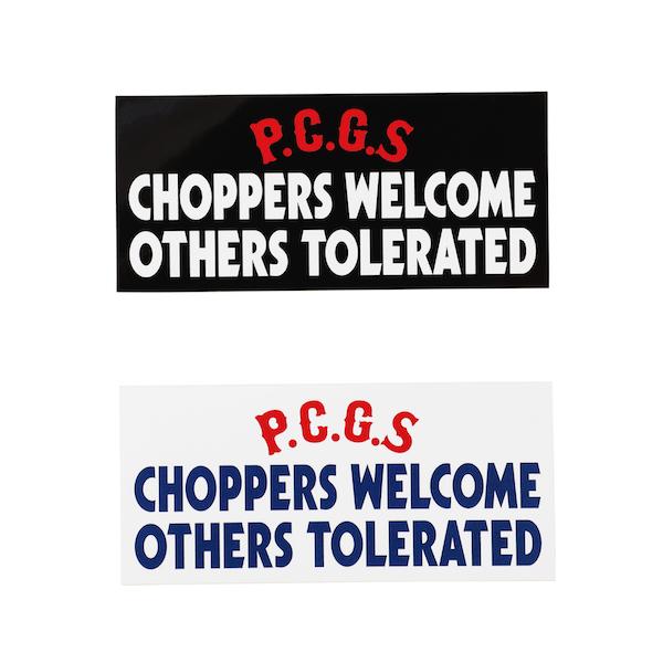 PORKCHOP GARAGE SUPPLY CHOPPERS WELCOME STICKER