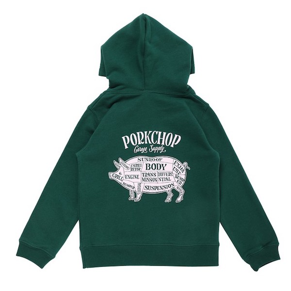 PORKCHOP GRAGE SUPPLY PORK BACK HOODIE for Kids P-20