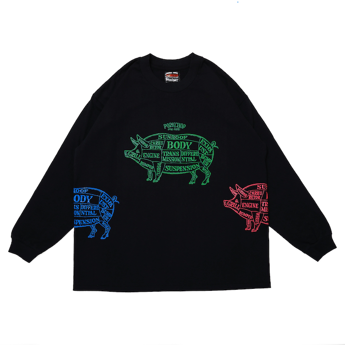 PORKCHOP GARAGE SUPPLY MULTI PORK L/S TEE