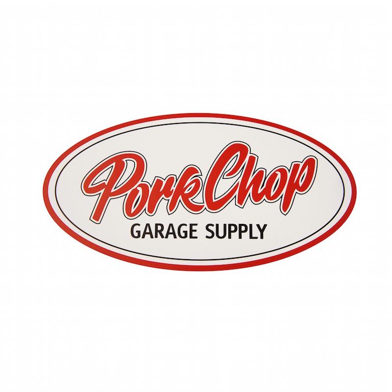 PORKCHOP OVAL STICKER / LARGE