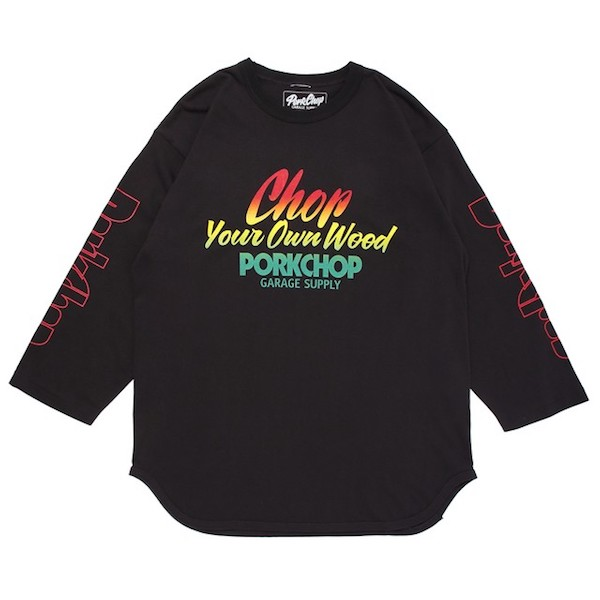PORKCHOP GARAGE SUPPLY CHOP YOUR OWN WOOD BASEBALL TEE