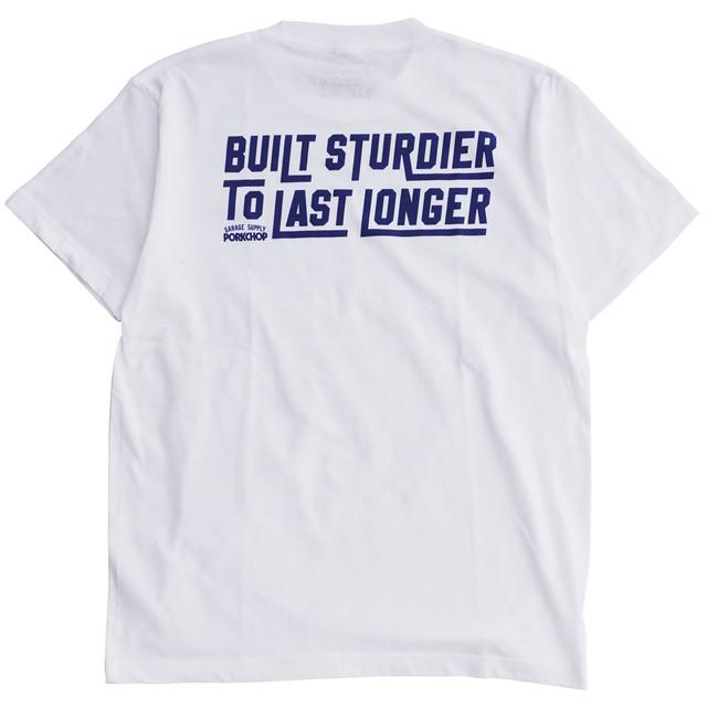 【PORKCHOP GARAGE SUPPLY】BUILT STURDIER TEE