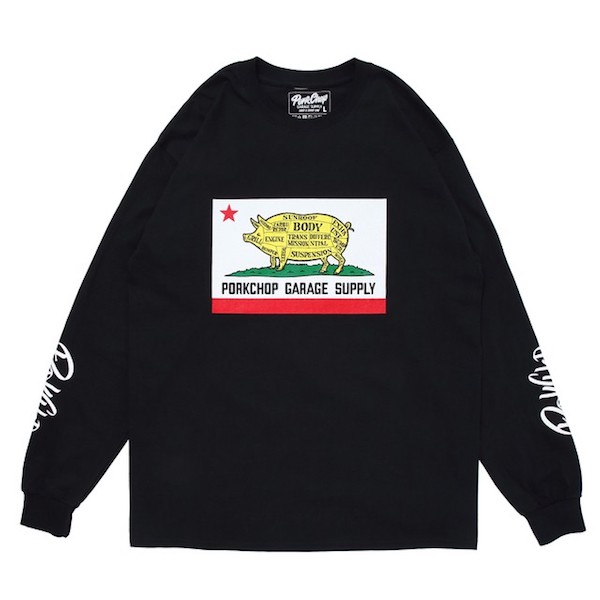 PORKCHOP GARAGE SUPPLY PORK CALIF L/S TEE