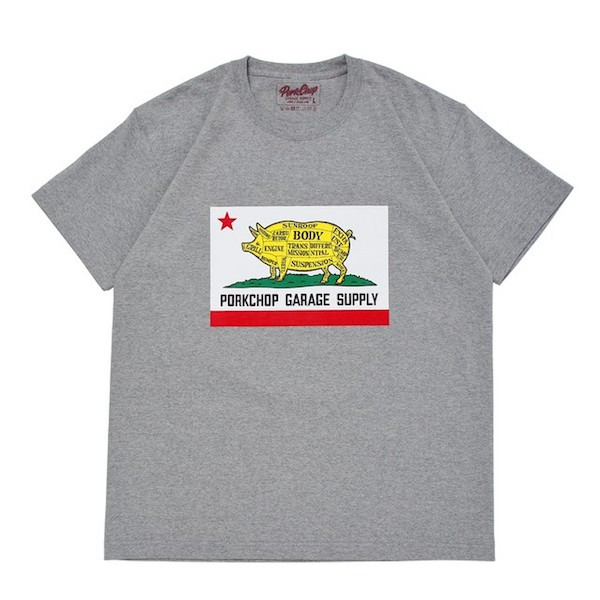 PORKCHOP GARAGE SUPPLY PORK CALIF TEE