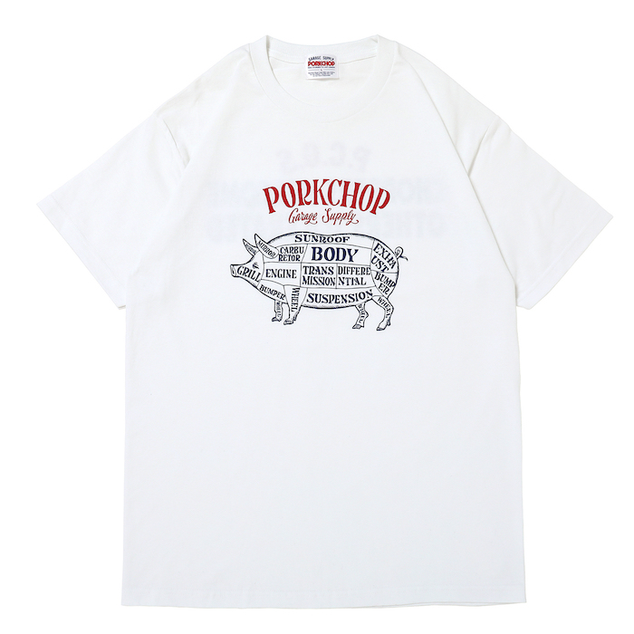 PORKCHOP GARAGE SUPPLY CHOPPERS WELCOME TEE